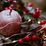 Red Christmas Tree Ornaments Wallpaper