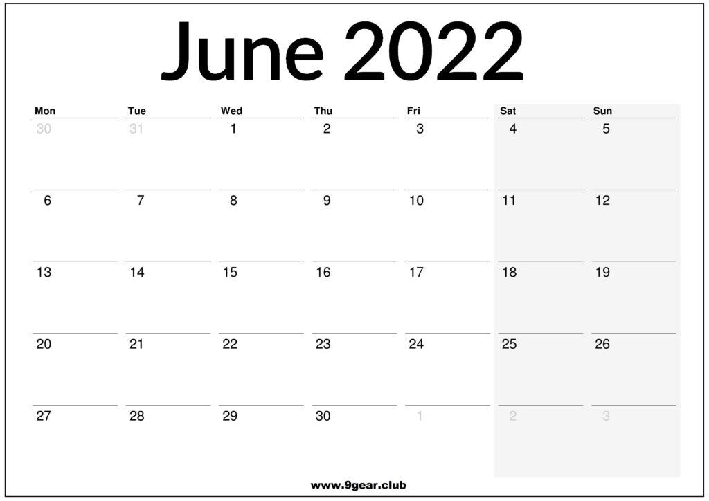 Calendar 2022 June.2022 June Archives Printable Calendars 2022