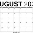 August 2022 Calendar US Free Printable