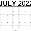 July 2022 US Calendar Printable Download Free
