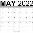 May 2022 US Calendar Printable Free Download